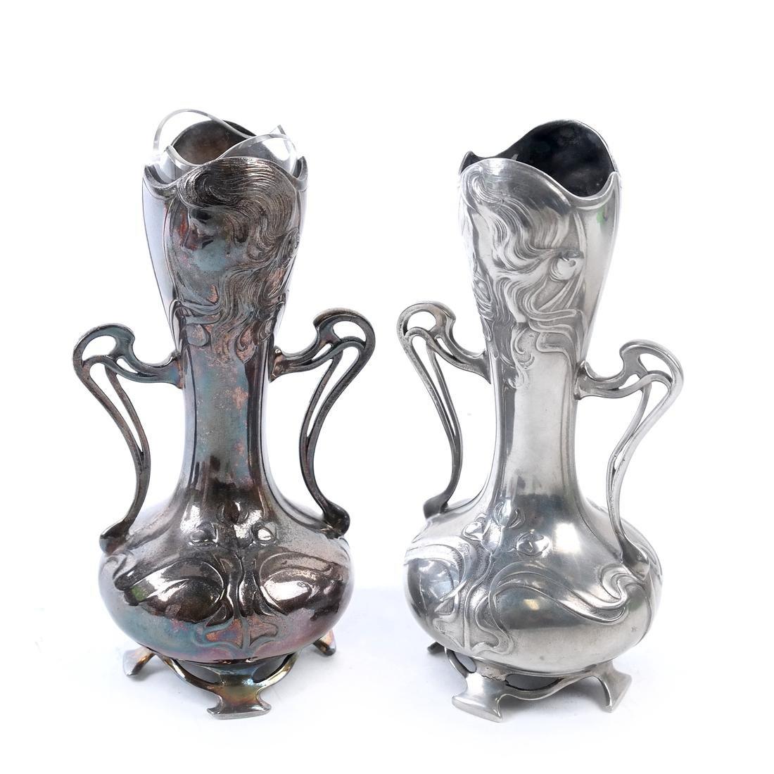 Pair of WMF Art Nouveau Vases