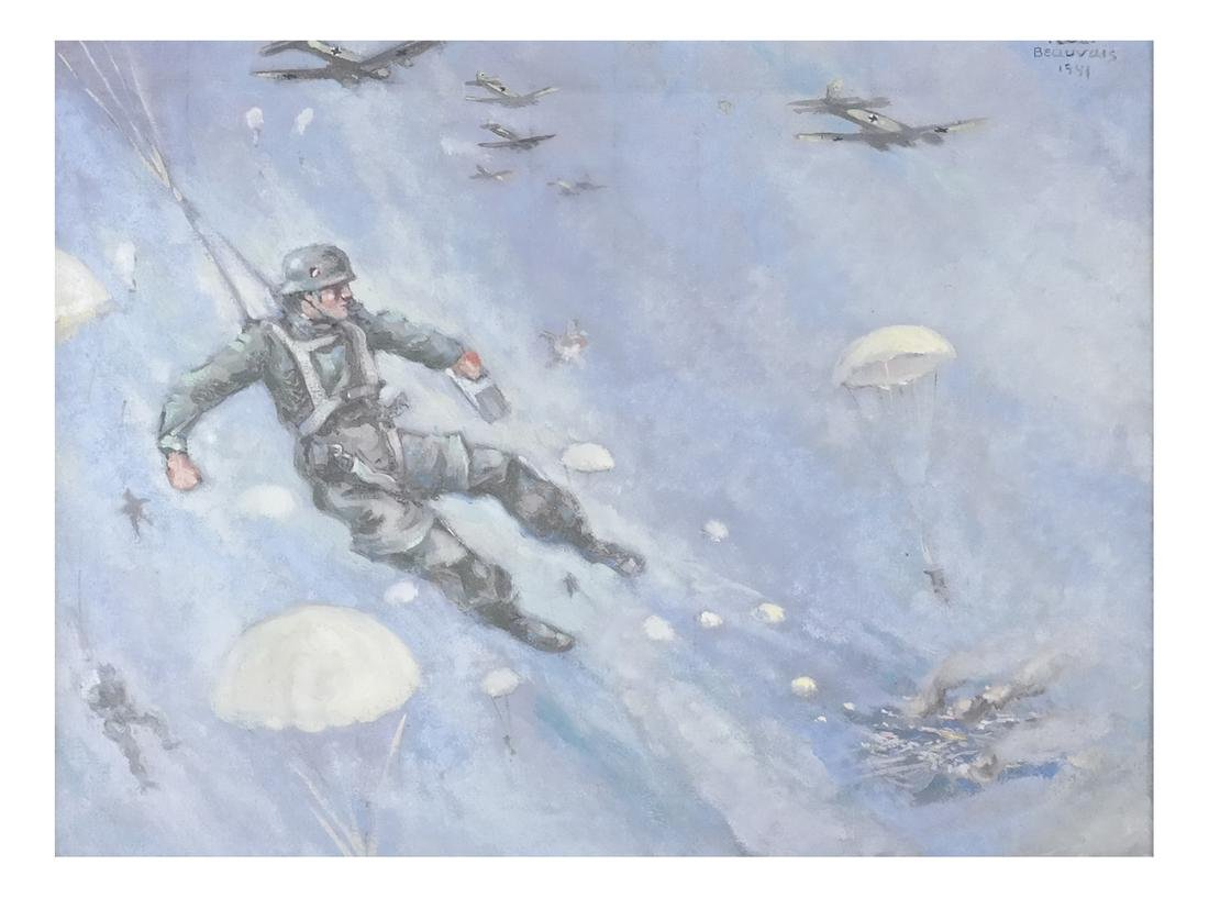 Oil on Canvas, Paratroopers