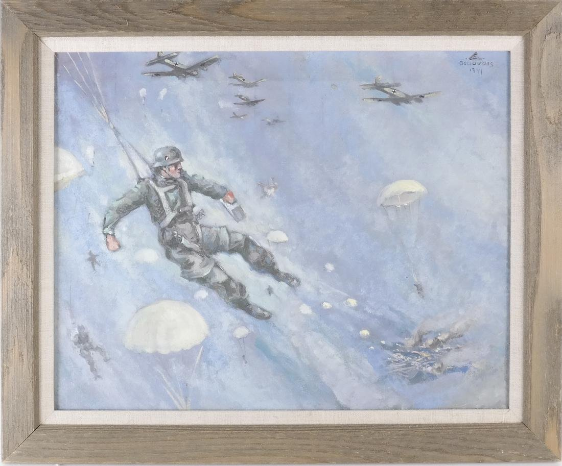 Oil on Canvas, Paratroopers - 2