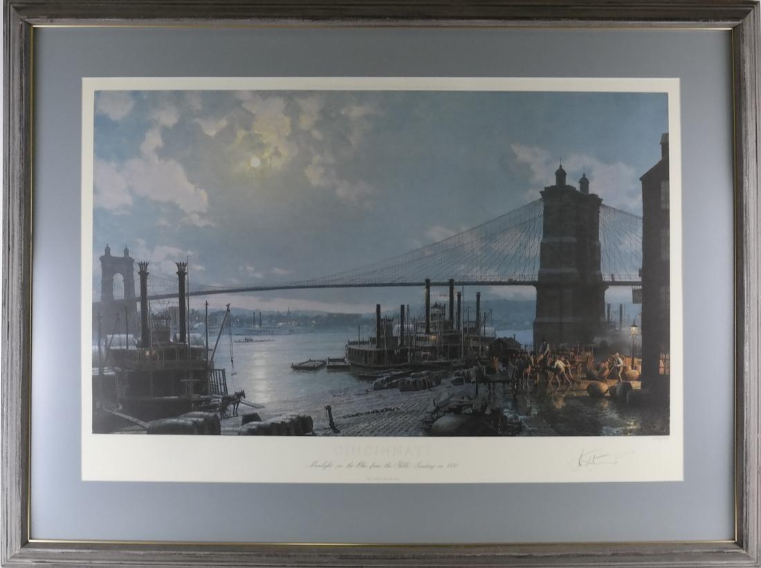 Cincinnati Print After John Stobart - 2