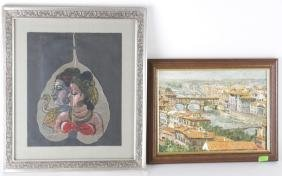 Two Framed Works, D. Vano and another