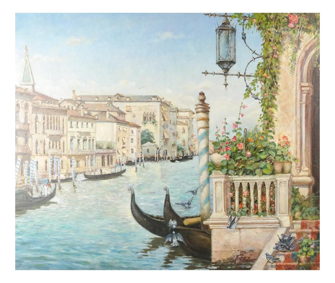 Venetian Painting, Canal Scene