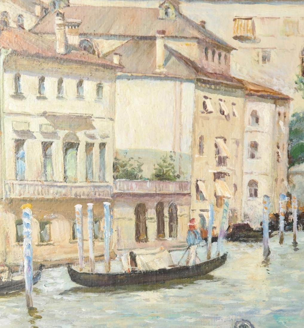 Venetian Painting, Canal Scene - 4