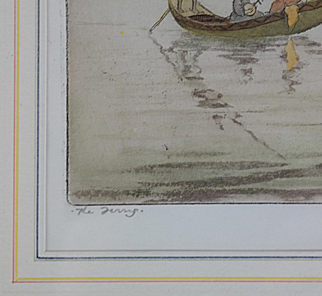 Robert Herdman Smith The Ferry: Color Etching - 5
