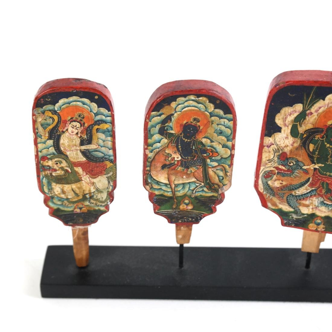Early Painted Indonesian Cambodian Mini Panels - 2