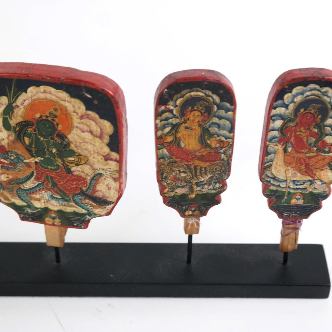 Early Painted Indonesian Cambodian Mini Panels - 3