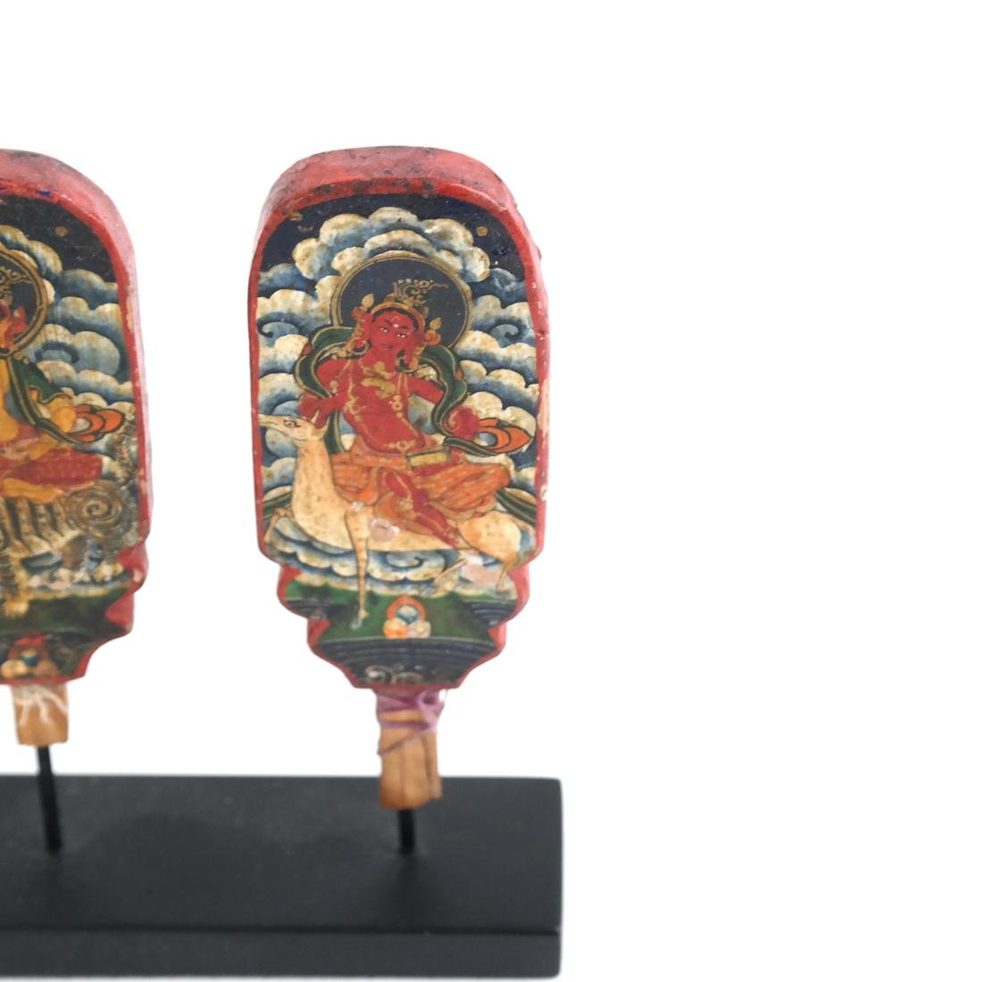 Early Painted Indonesian Cambodian Mini Panels - 4