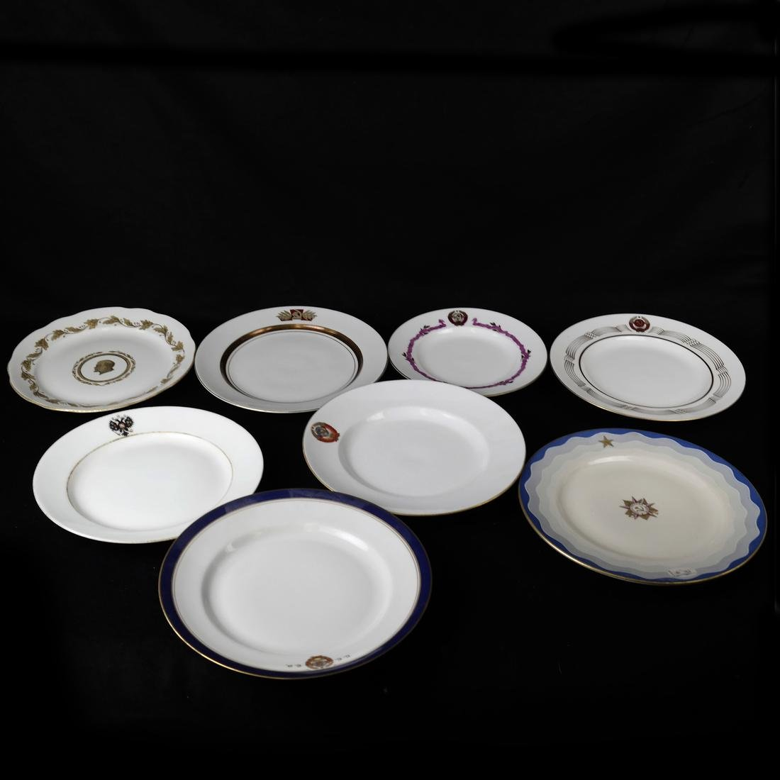 8 Russian Plates