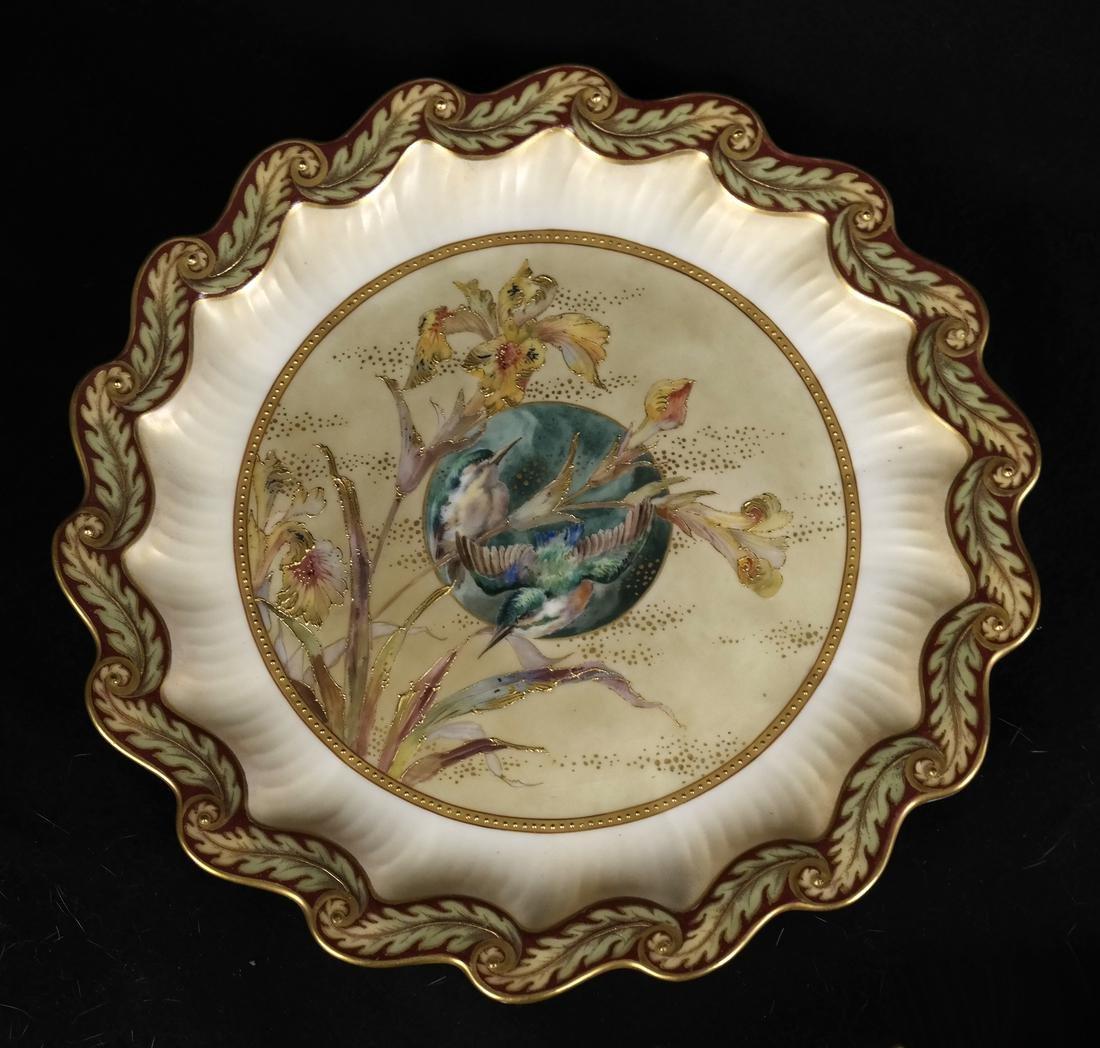 Royal Burslem Cabinet Plates - 4