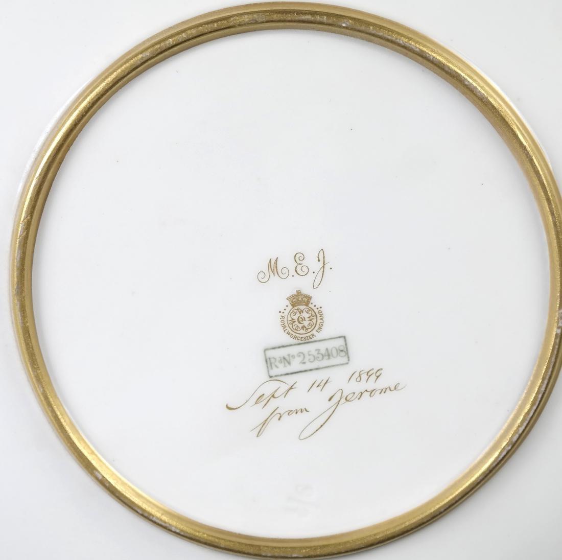 Royal Burslem Cabinet Plates - 5