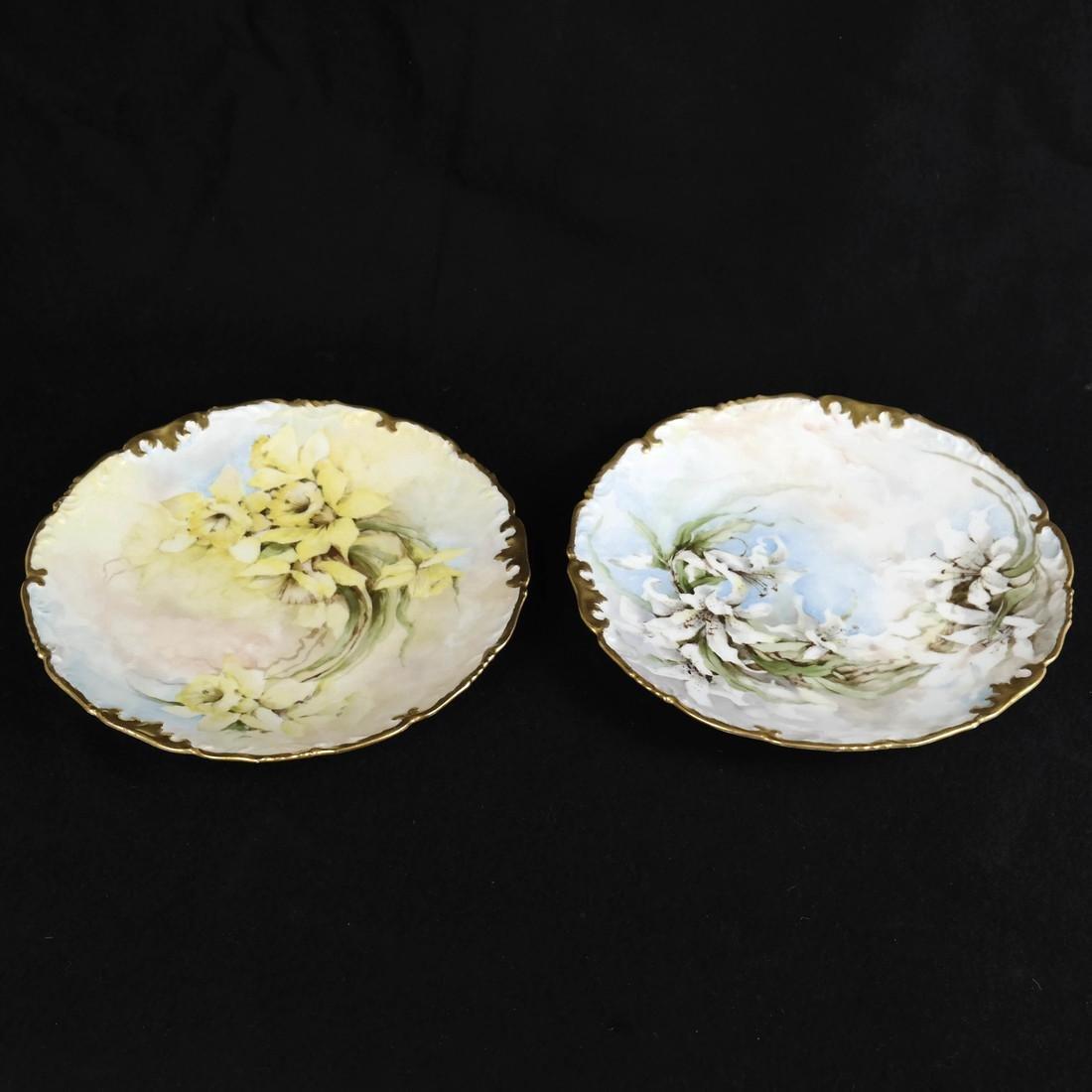 Pair of Limoges Porcelain Plates