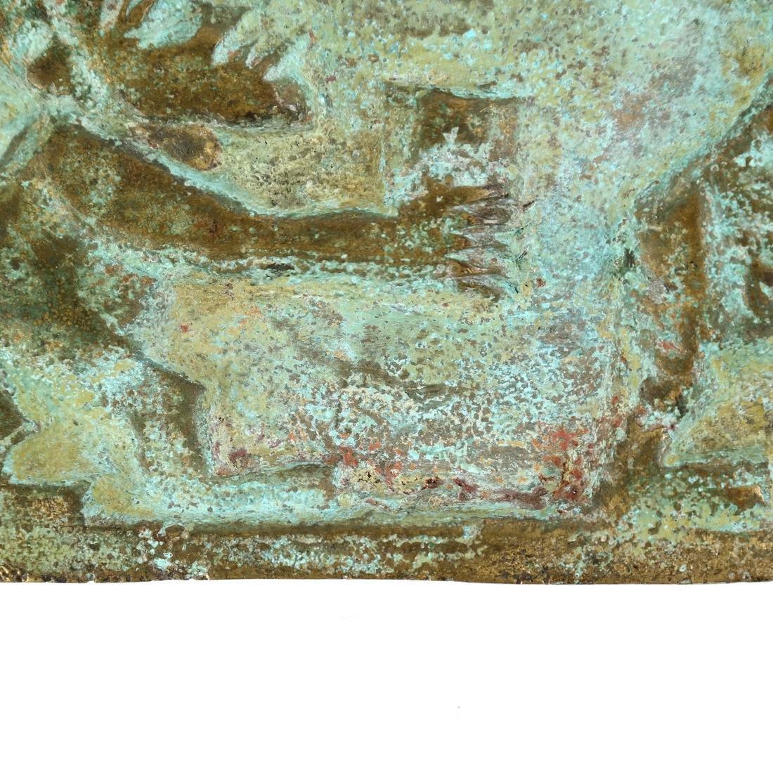 Contemporary African Bronze Plaque - 5