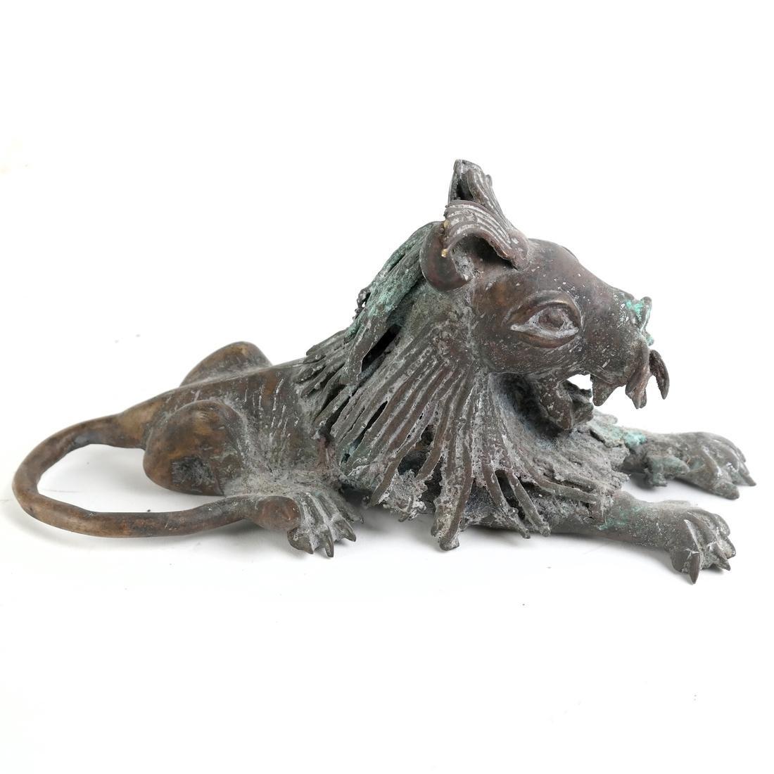 Roman-Style Bronze Lion - 2