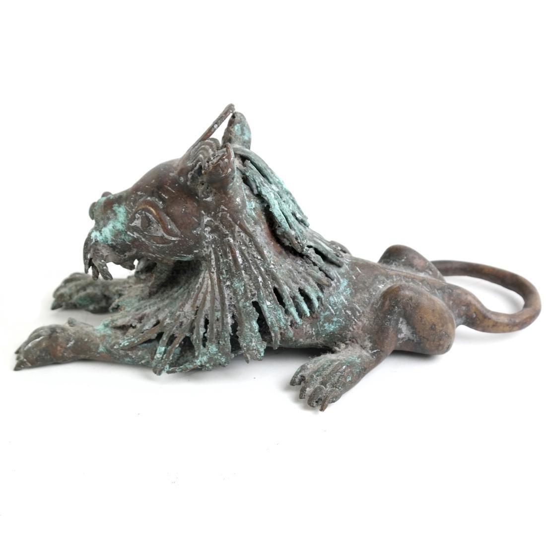 Roman-Style Bronze Lion - 3