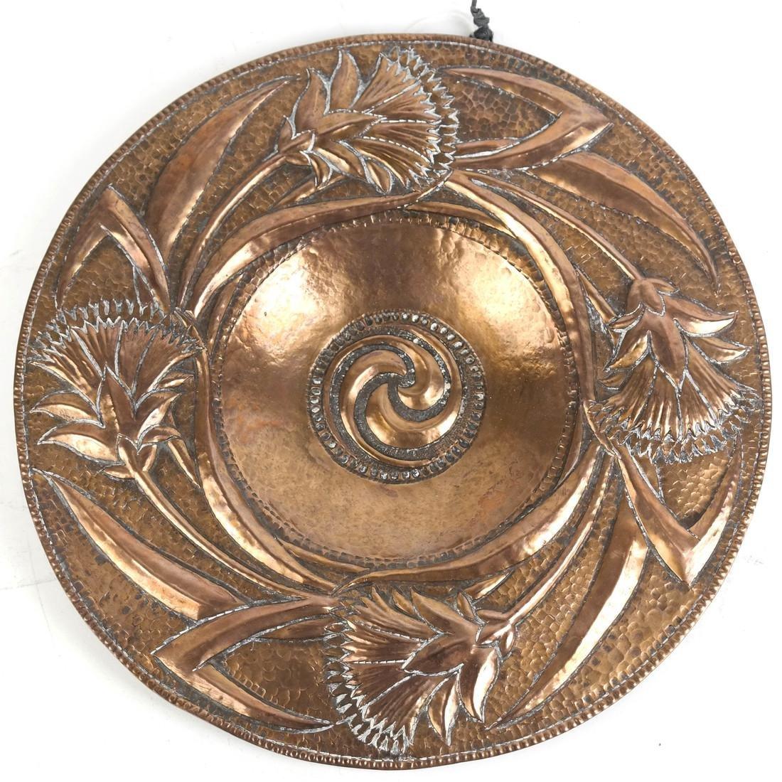 Art Nouveau Copper Plate by John Pearson