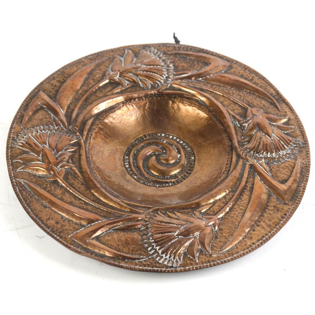 Art Nouveau Copper Plate by John Pearson - 2