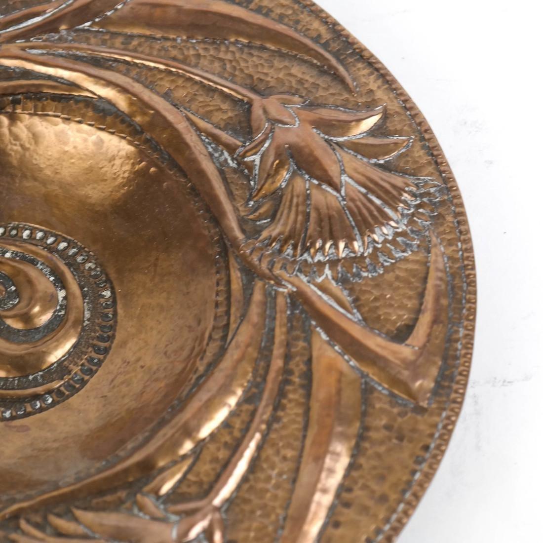 Art Nouveau Copper Plate by John Pearson - 3
