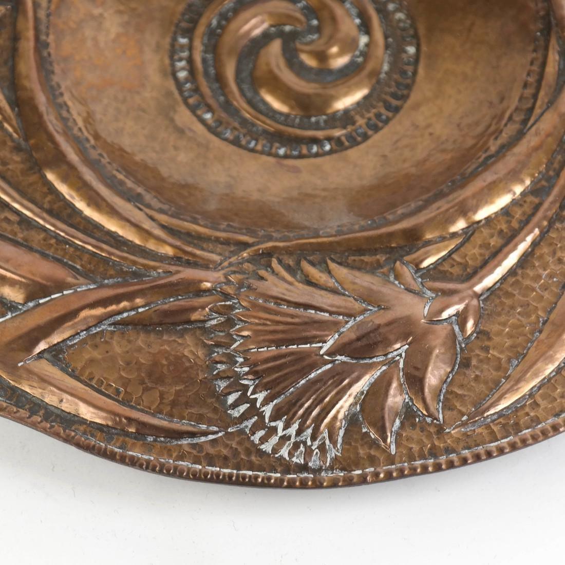 Art Nouveau Copper Plate by John Pearson - 4