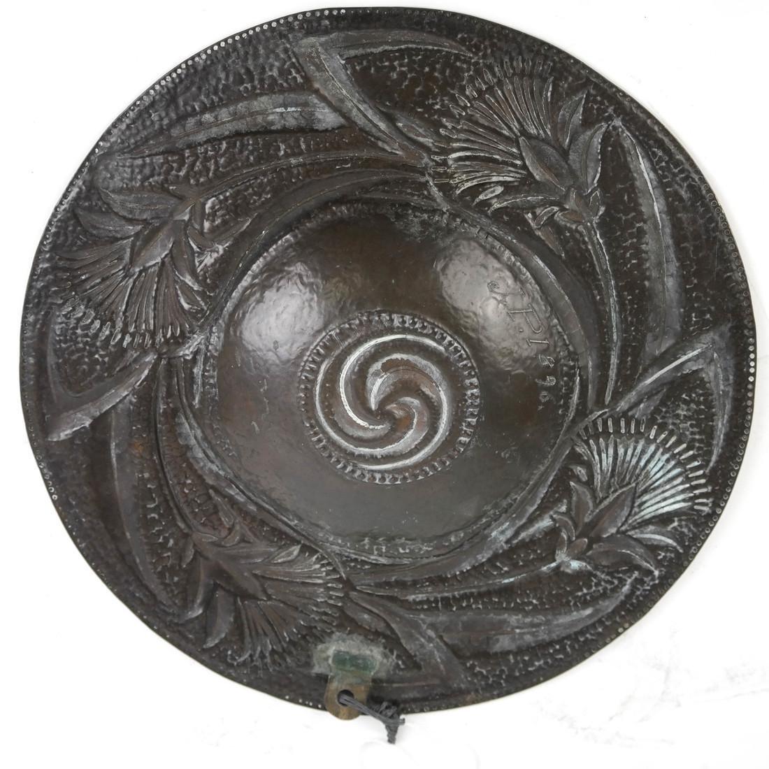 Art Nouveau Copper Plate by John Pearson - 5
