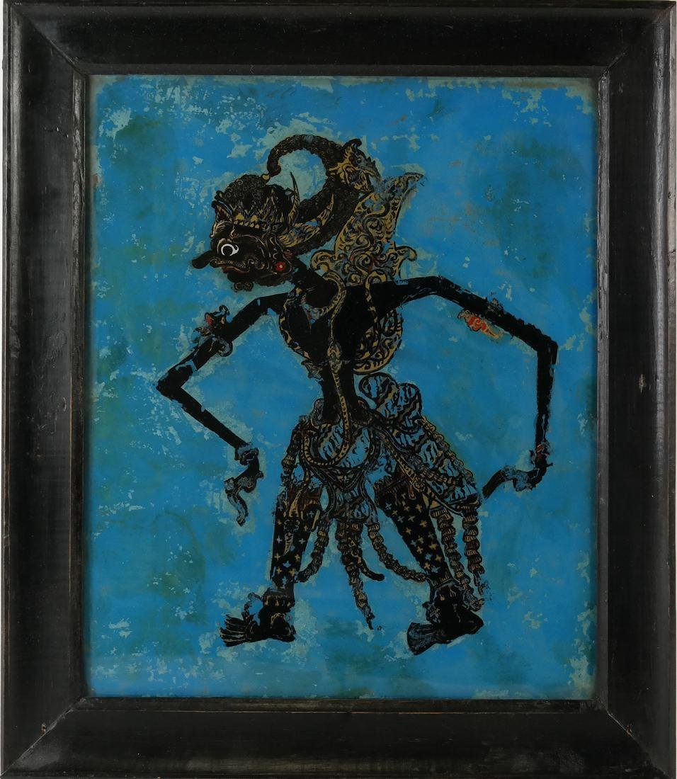 Reverse Painting on Glass: Shadow Puppet - 2