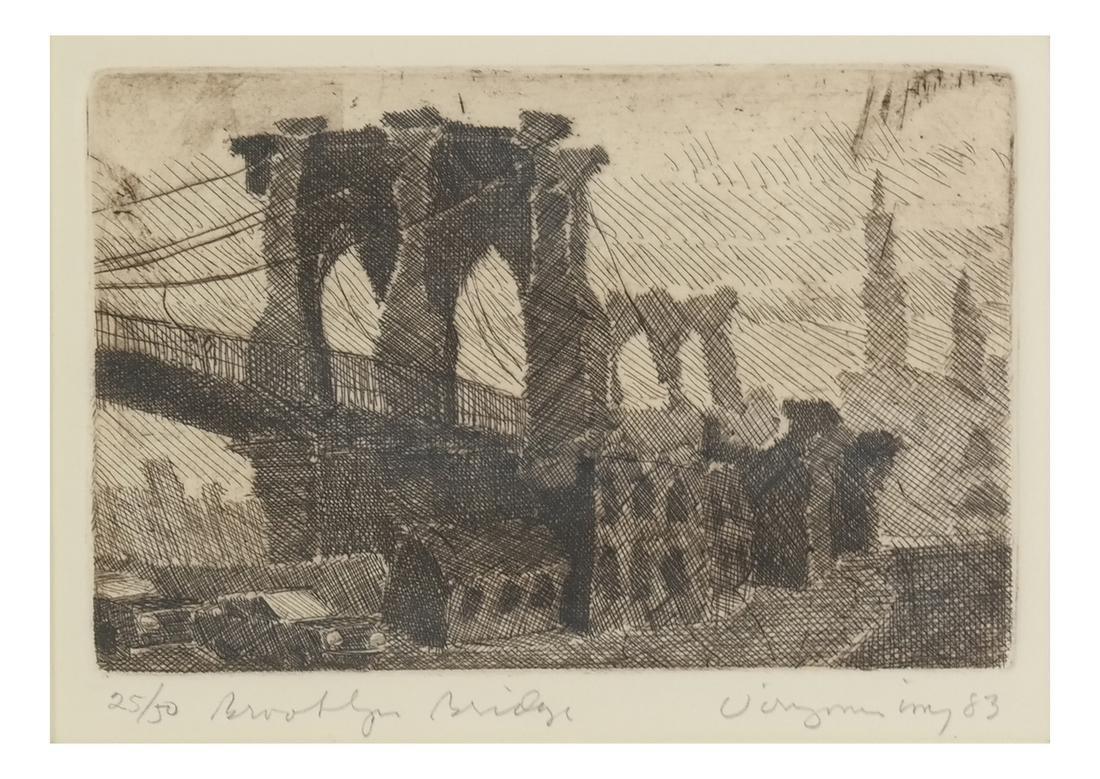 Etching, Manhattan Bridge