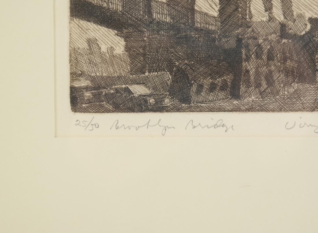 Etching, Manhattan Bridge - 3