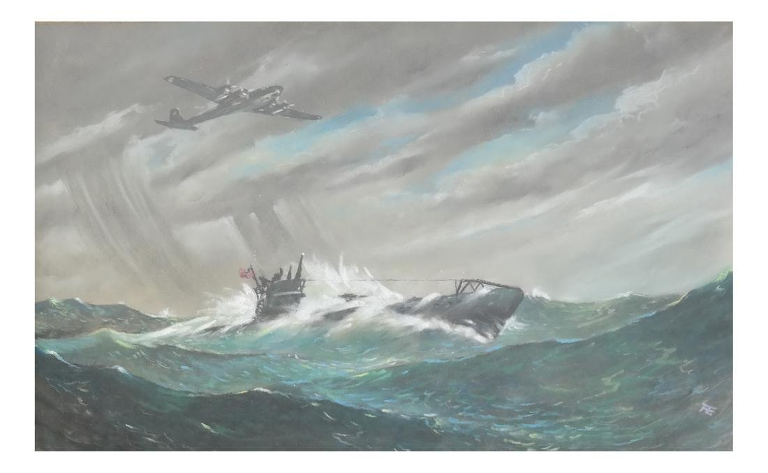 Gouache, Japanese Submarine