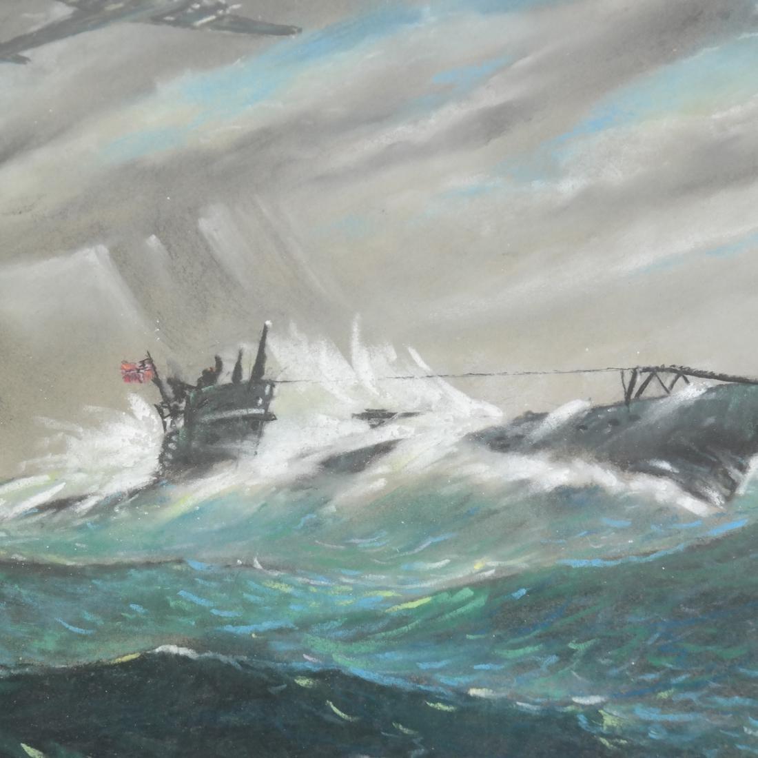 Gouache, Japanese Submarine - 3