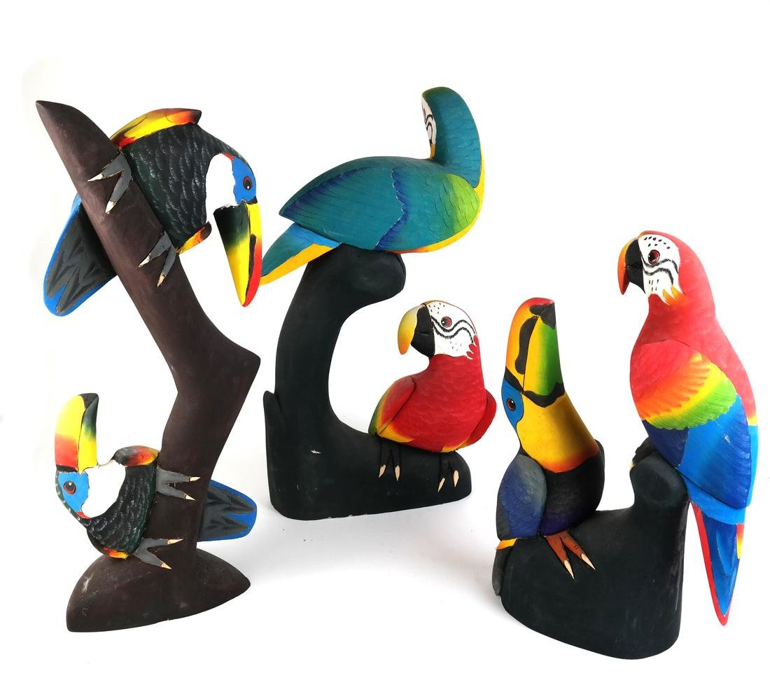 Group of Painted Birds