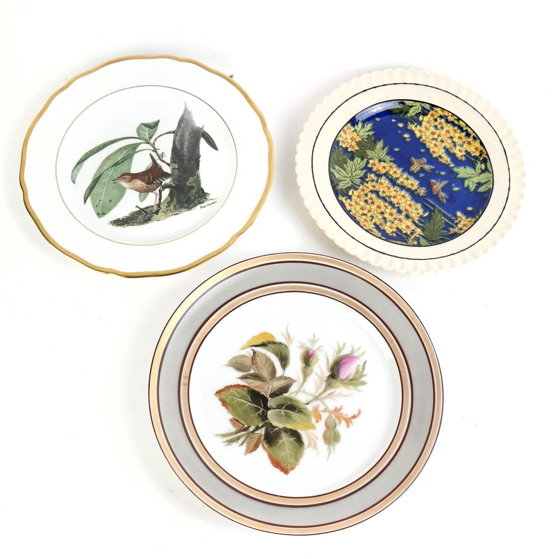 Three Decorated Plates