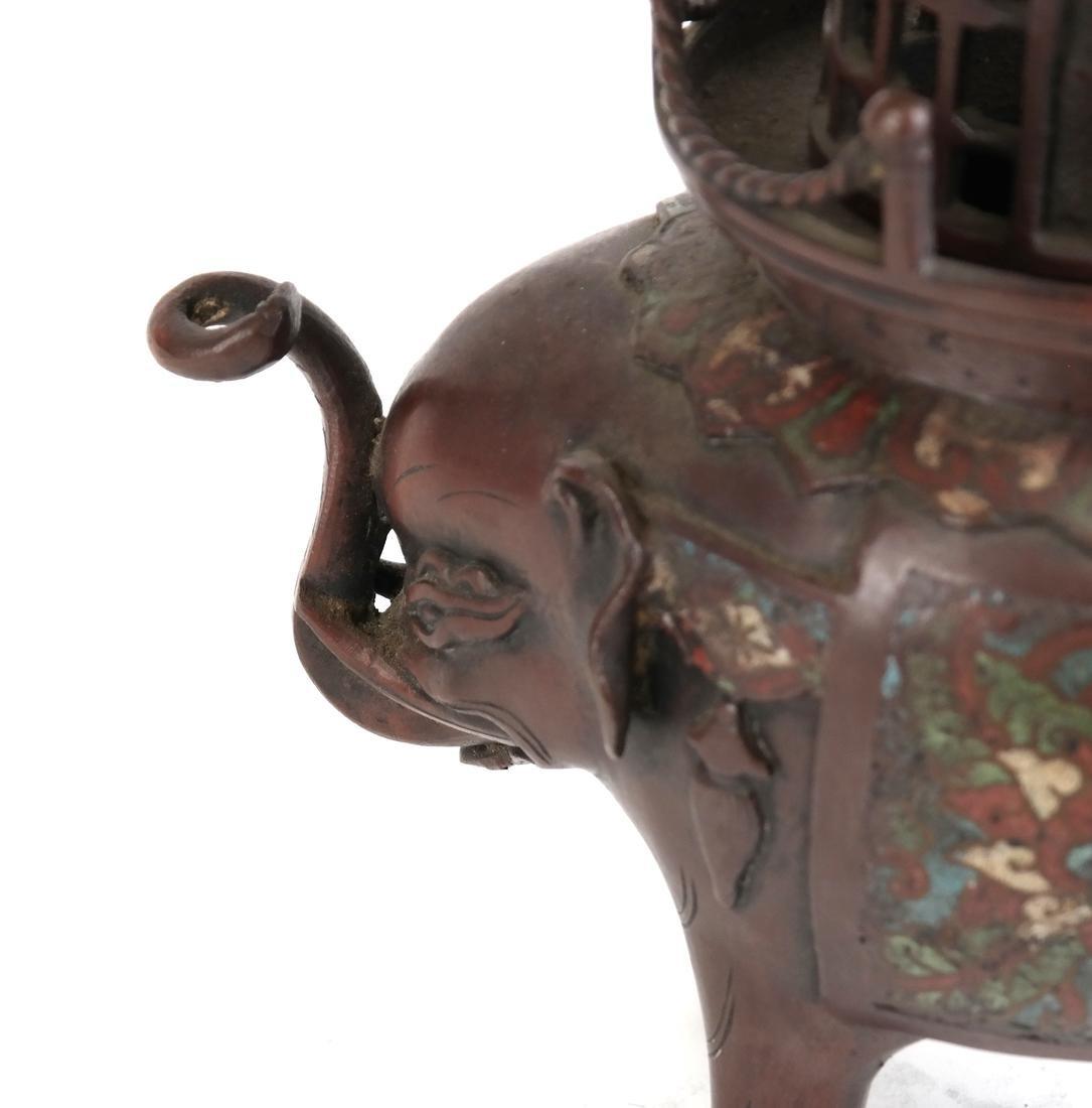 Japanese Cloisonne Censer - 3