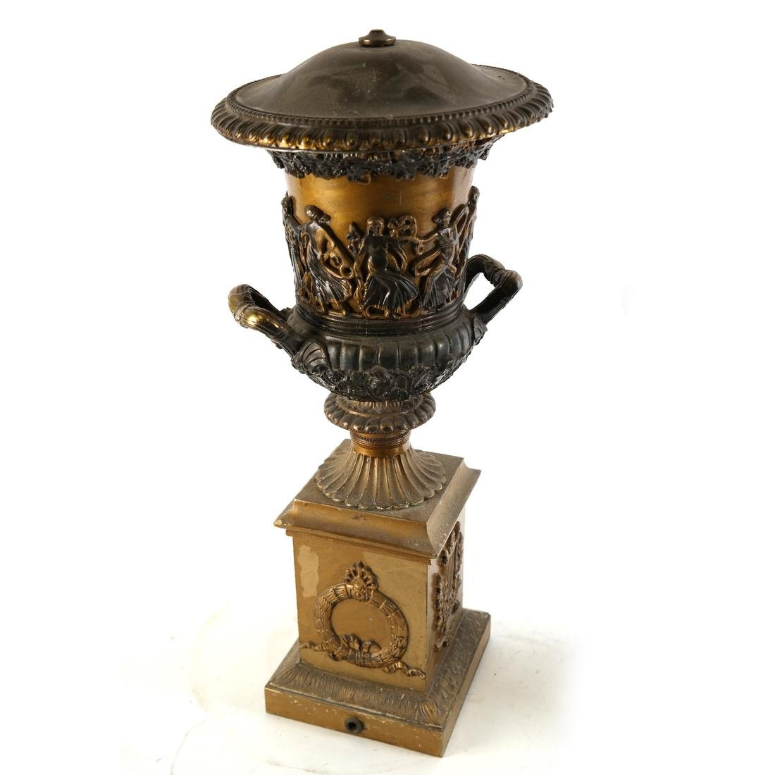 Pair of Gilt Metal Covered Urns - 2
