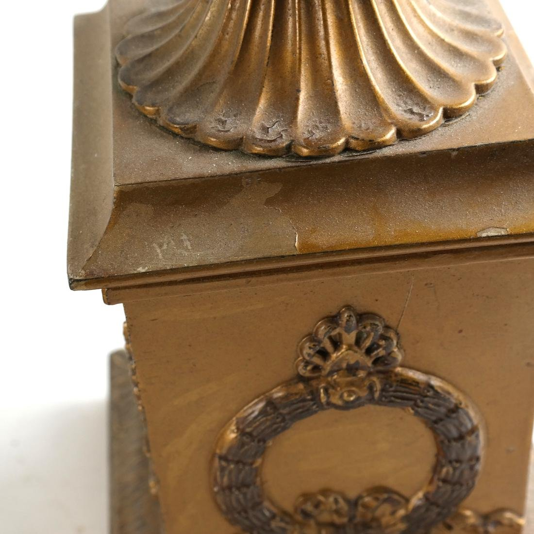 Pair of Gilt Metal Covered Urns - 8