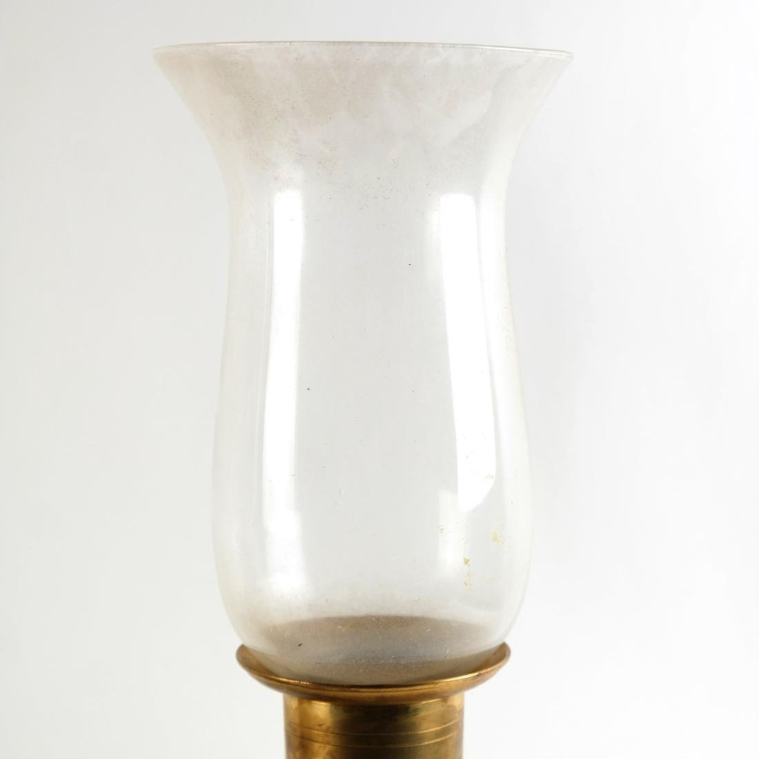 Pair of Lamps with Rouge Marble Bases - 3