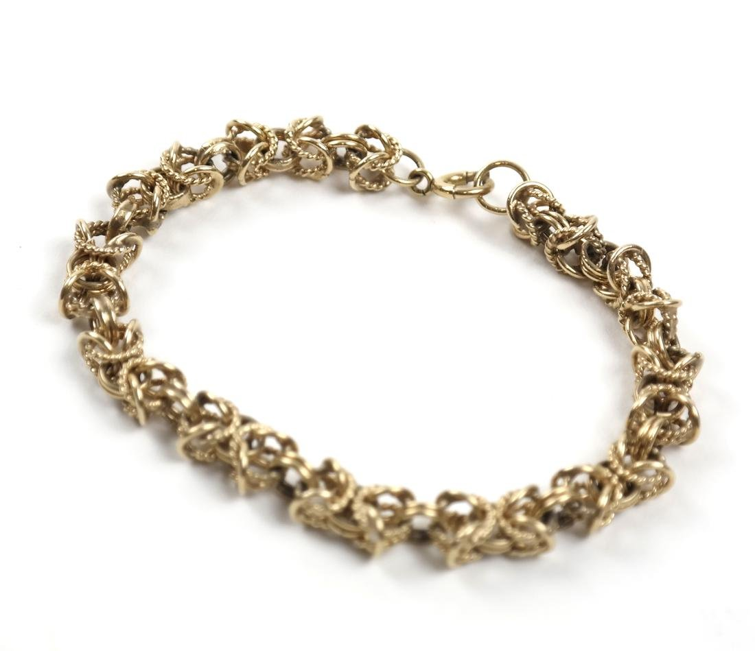14k Yellow Gold Open Rope Link Bracelet