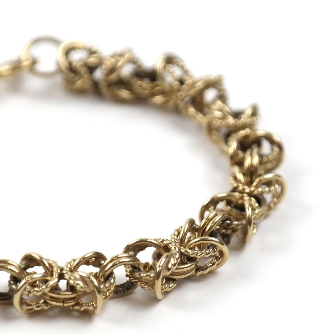 14k Yellow Gold Open Rope Link Bracelet - 2