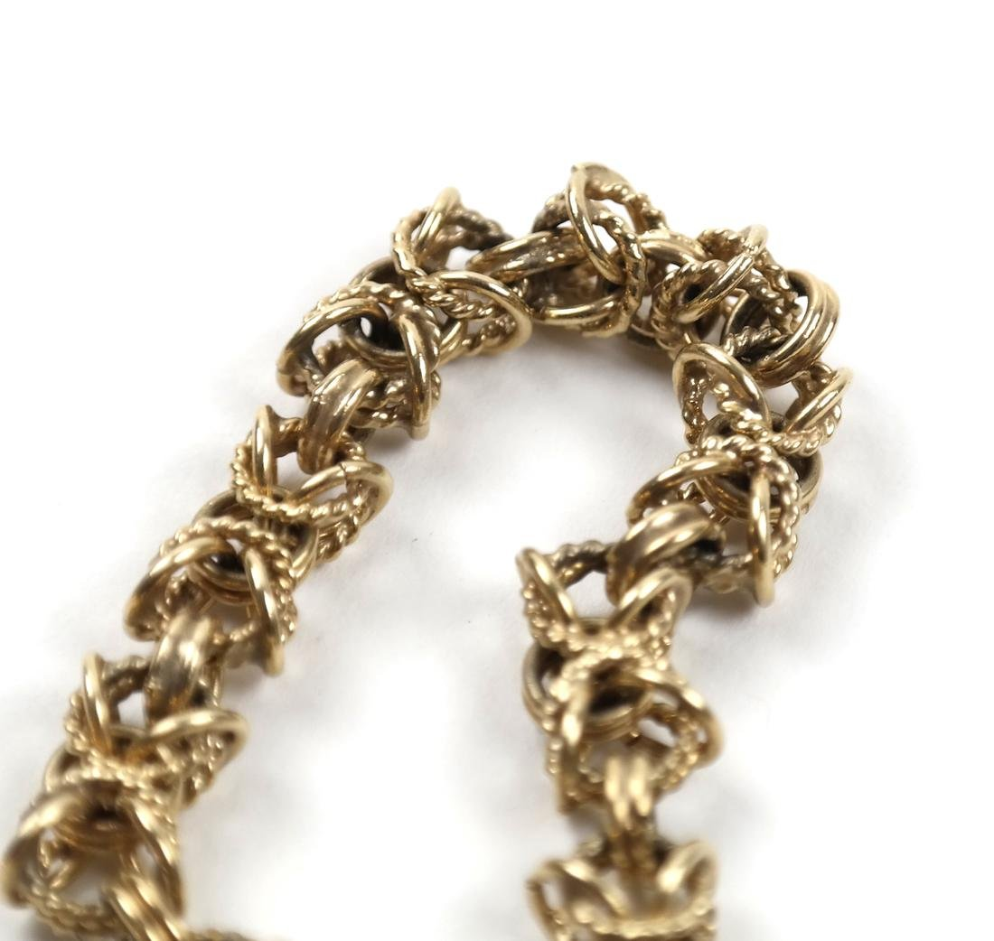 14k Yellow Gold Open Rope Link Bracelet - 4