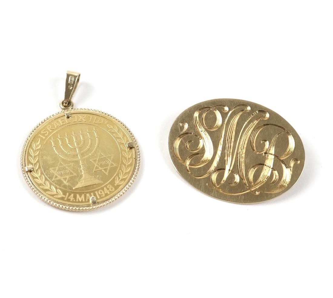 Two Various Gold Items