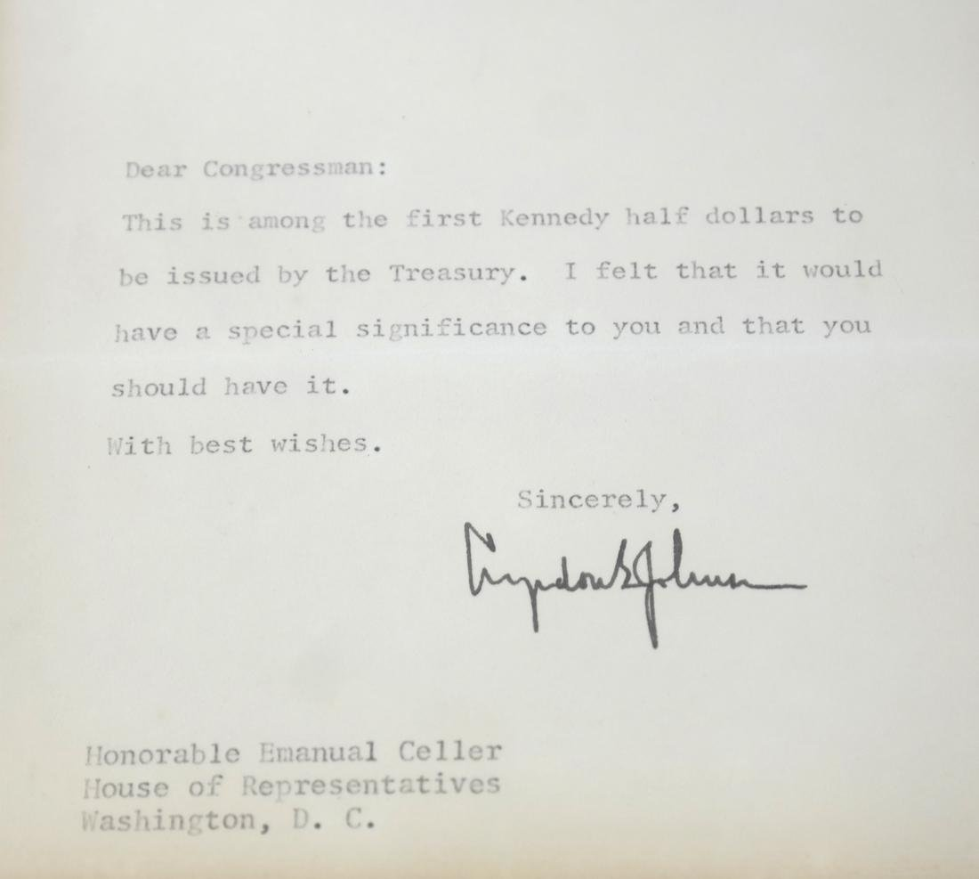 1964 Kennedy Coin/White House Letter - 4