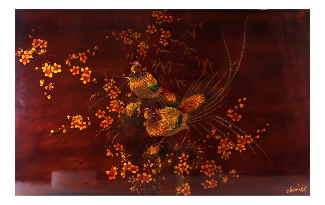 Japanese Lacquered Panel