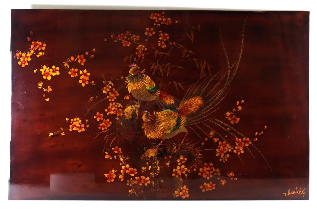 Japanese Lacquered Panel - 2