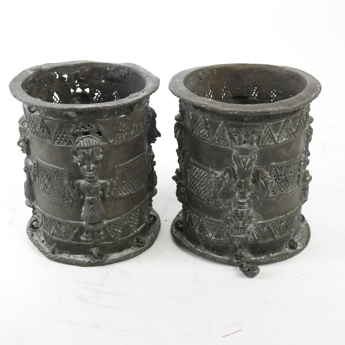 Pair of African Bronze Sleeves