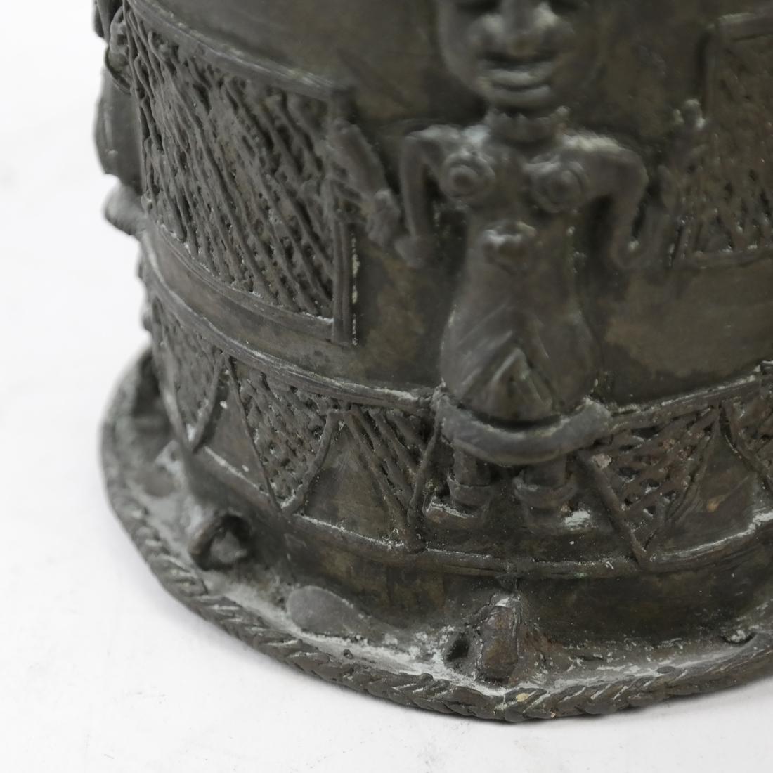 Pair of African Bronze Sleeves - 5