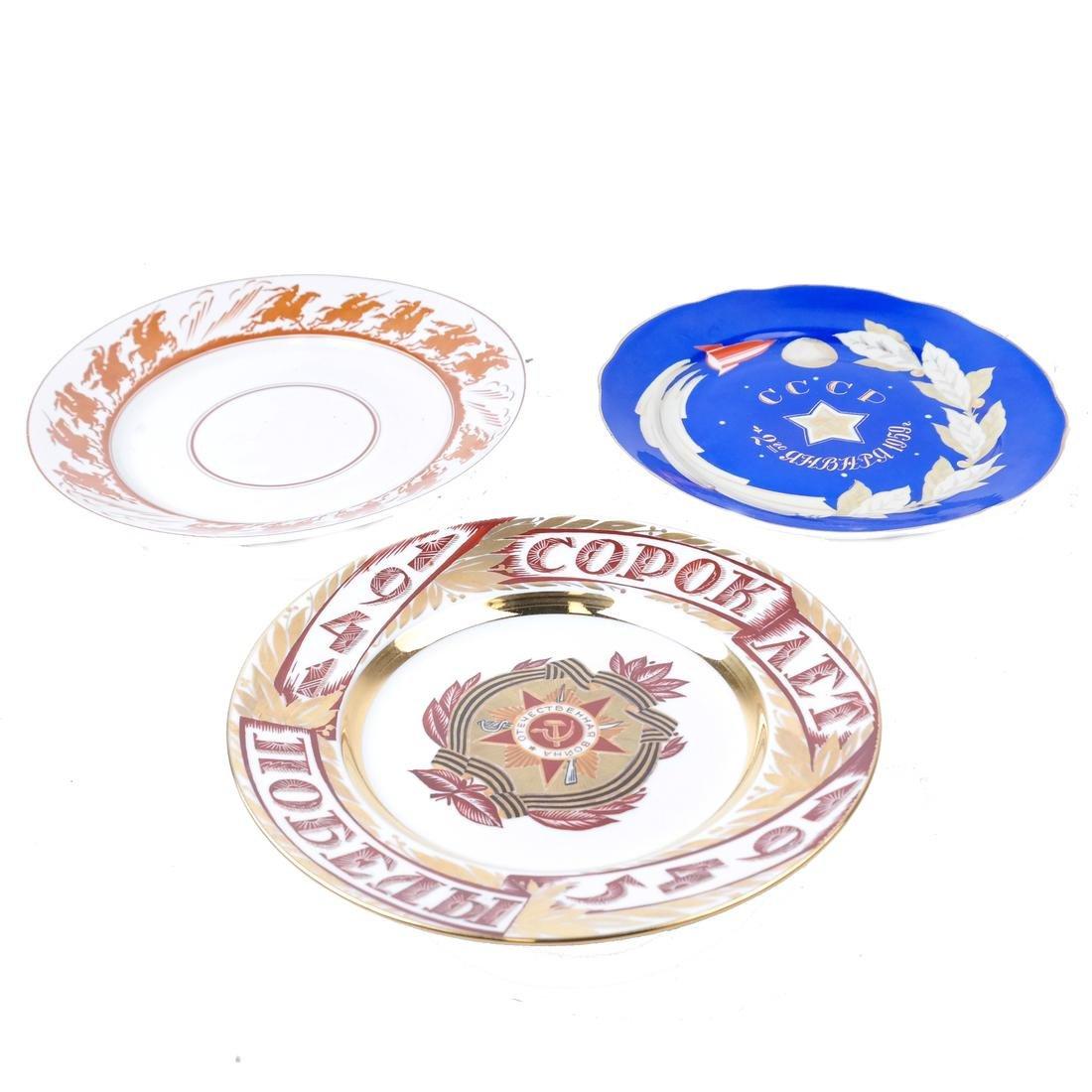Three Russian Porcelain Plates - 2