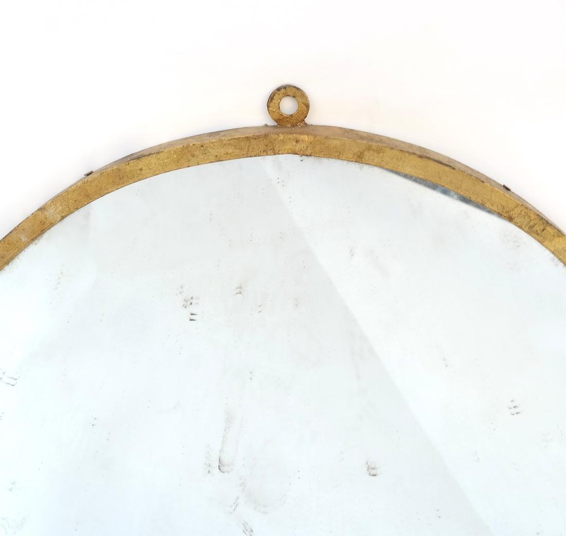 Circular Gilt Metal Mirror - 4