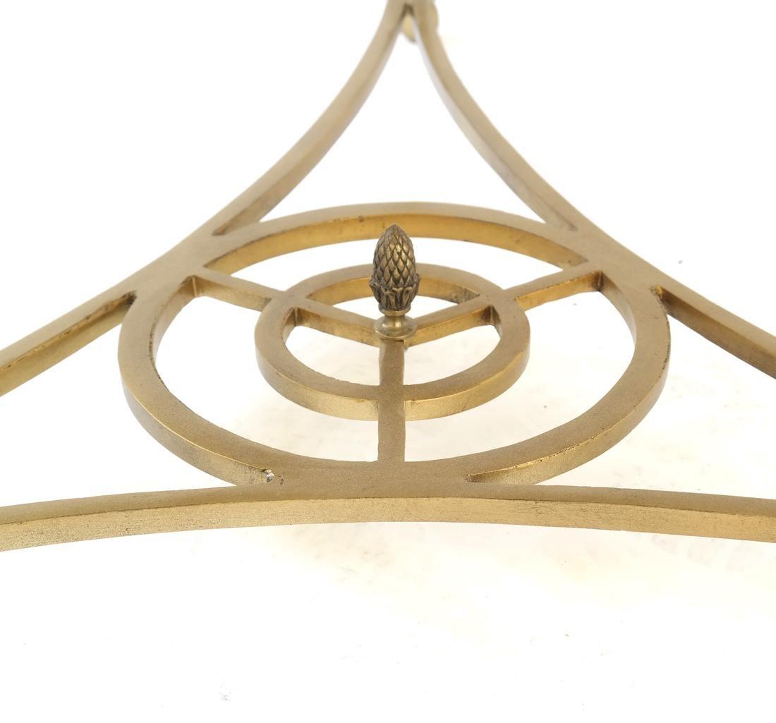 Louis XVI-Style Gilt Metal Gueridon - 6
