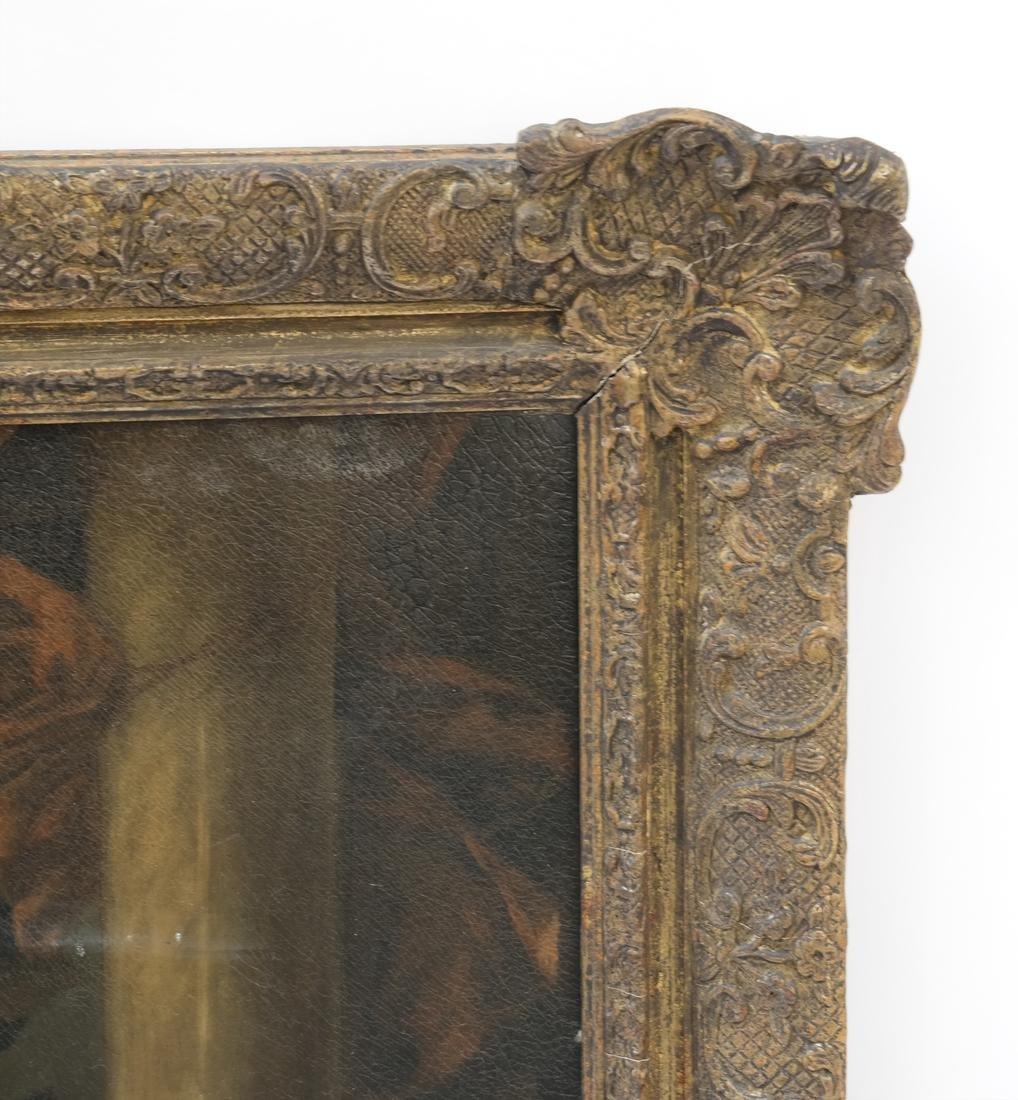 Royal Court Scene, Framed Oil on Canvas - 4