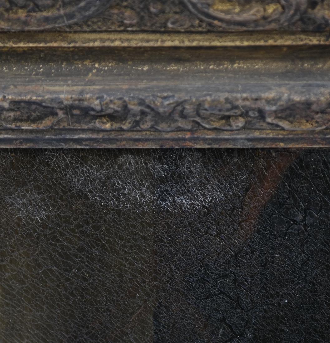 Royal Court Scene, Framed Oil on Canvas - 7
