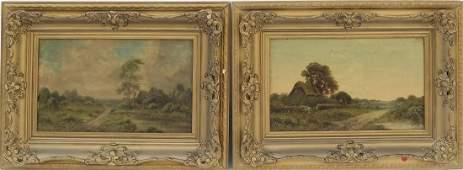 E Cole: Pr British Framed O/C Landscapes