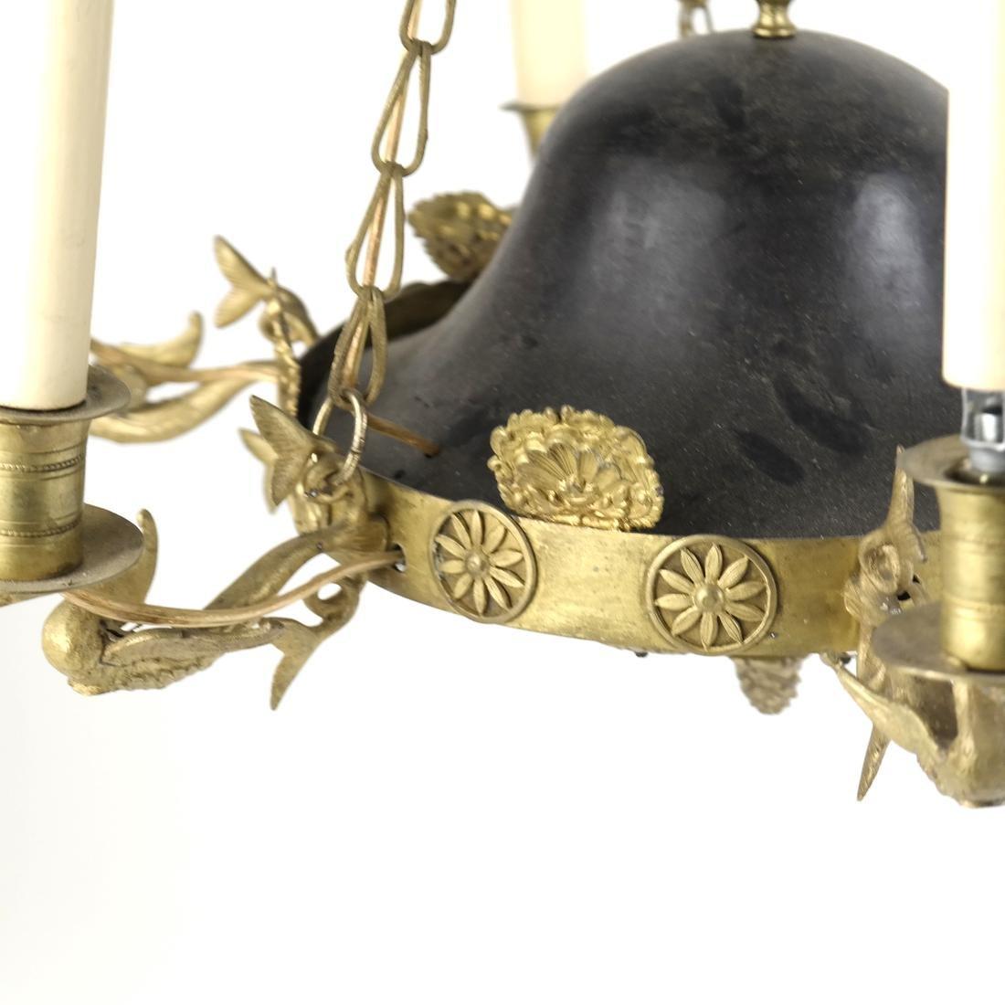Empire Style Tole & Brass Chandelier - 2